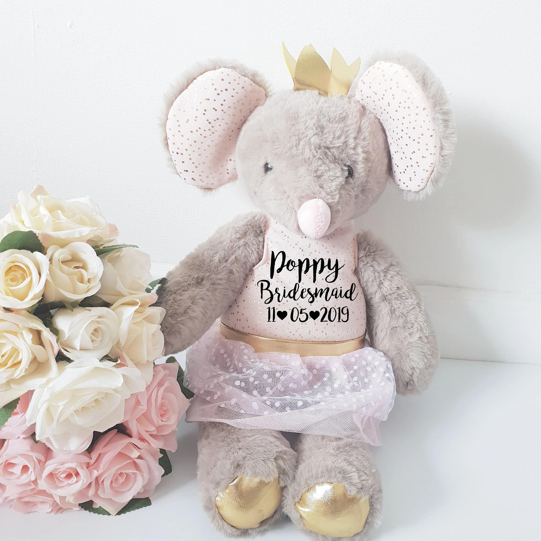 Flower girl gift Wedding gift Bridesmaid gift flower girl Mouse
