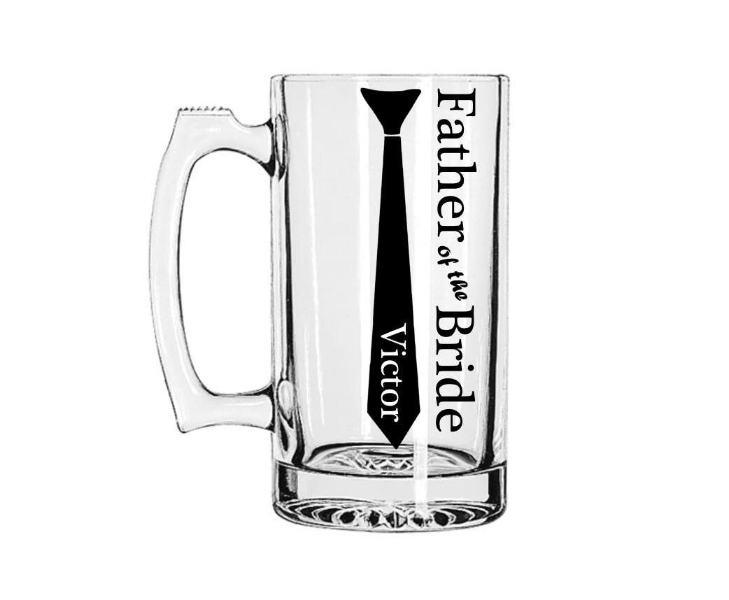 Groomsmen Mug Tie Beer Mug Father Of The Bride T Father