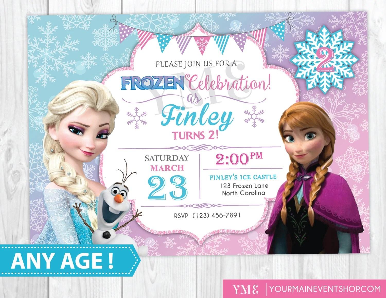 frozen invitation etsy