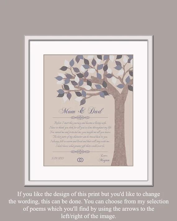 Mama und Papa Hochzeitsgeschenk Geschenk von Braut Gedicht