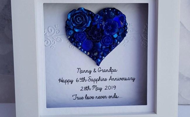 45th Wedding Anniversary Gift 45th Anniversary Gift Sapphire Etsy
