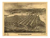 Vintage Map Of Coronado Beach California San Diego County