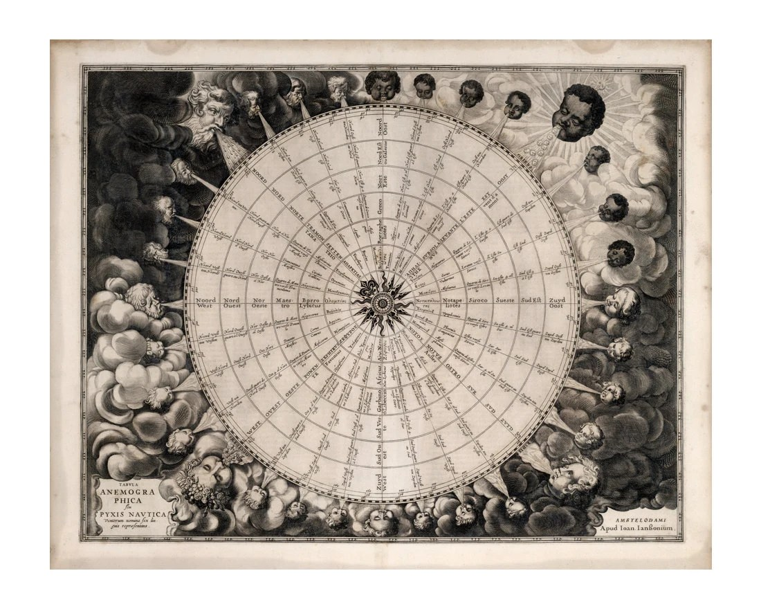 Map Of The Winds Compass Rose Chart