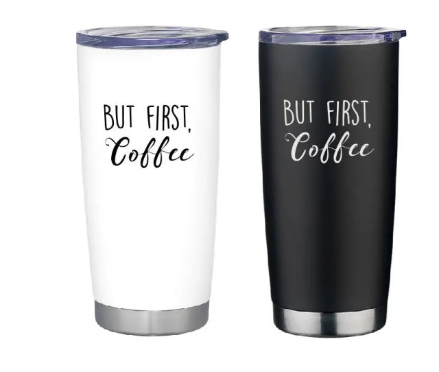 Insulated Coffee Cup Travel Coffee Mug But First Coffee Coffee Lover Gift Gift For Coffee Drinkers Coffee Cup Coffee Mug Travel Mug