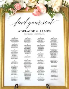 Image also wedding seating chart sign poster etsy rh