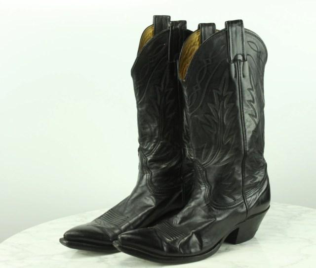 Vintage Nocona Cowboy Boots Womens Sz  B Black Steel Toe Usa Made Leather Vintage Womens Fashion Vintage Boots