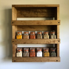 Kitchen Spice Rack Pictures Of Wooden Wall Mounted Storage Wood Etsy Image 0