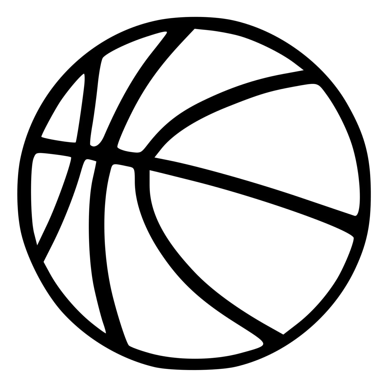 Basketball Outline Cut Decal Car Window Wall Bumper Phone