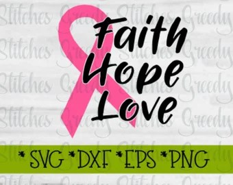 Download Breast Cancer Awareness SVG Swirl heart swirly Support   Etsy