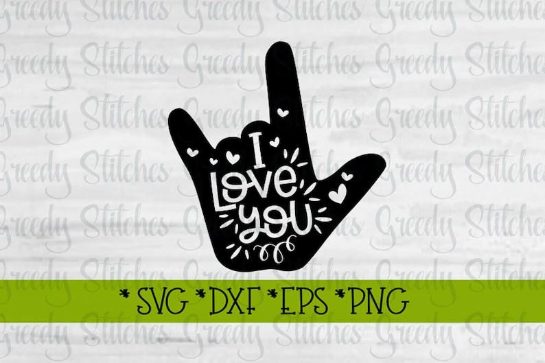 Download I Love You svg dxf eps png. Heart Love SvG ASL Svg   Etsy