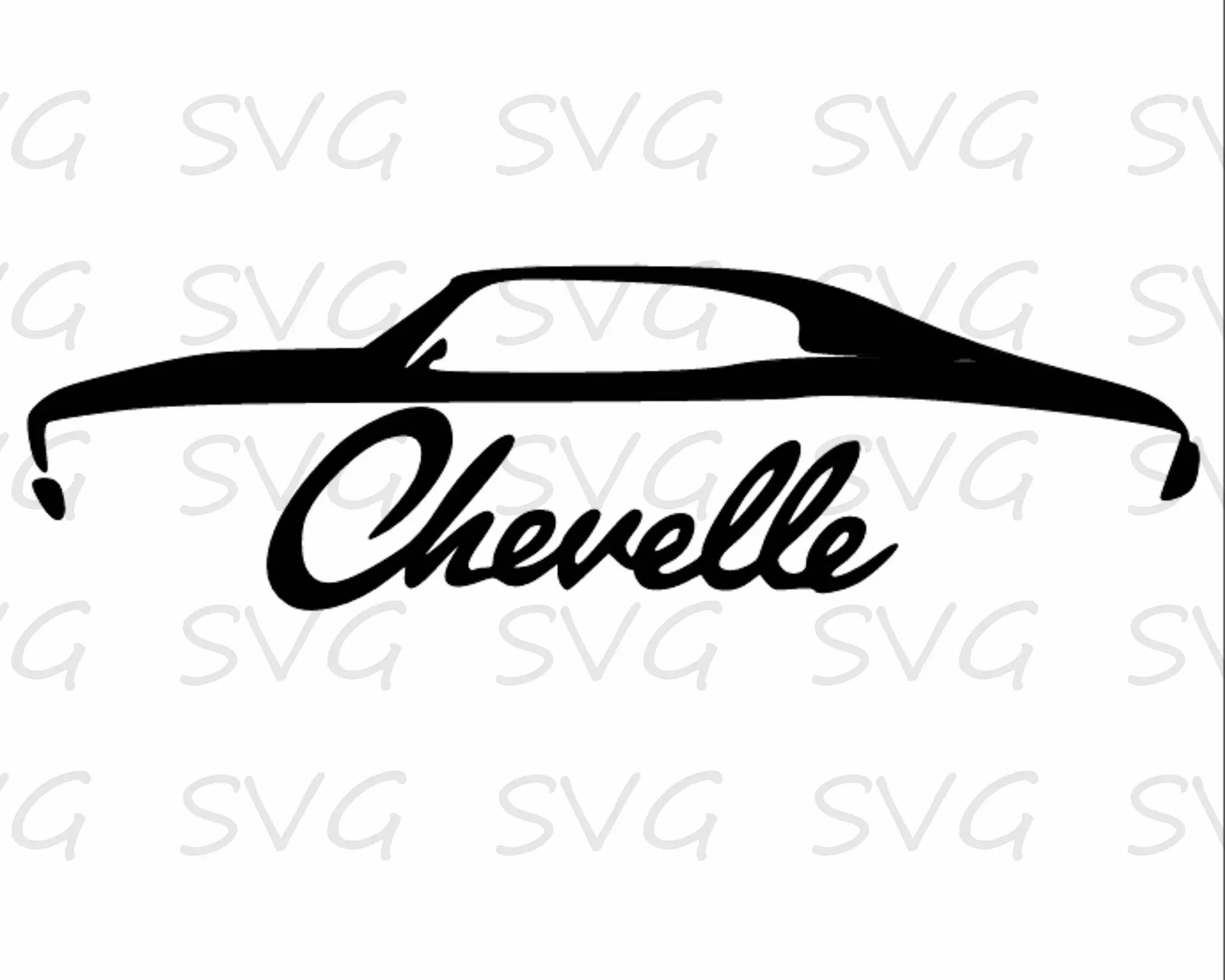 Chevelle Svg Dxf Fcm Eps And