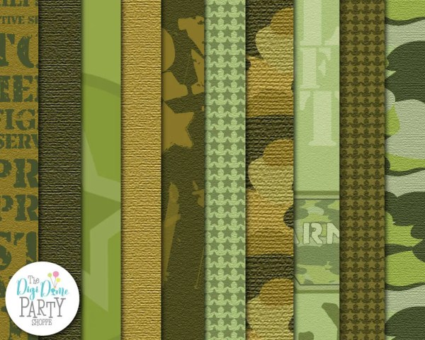 Army Camouflage Digital Scrapbooking Paper Pack 2