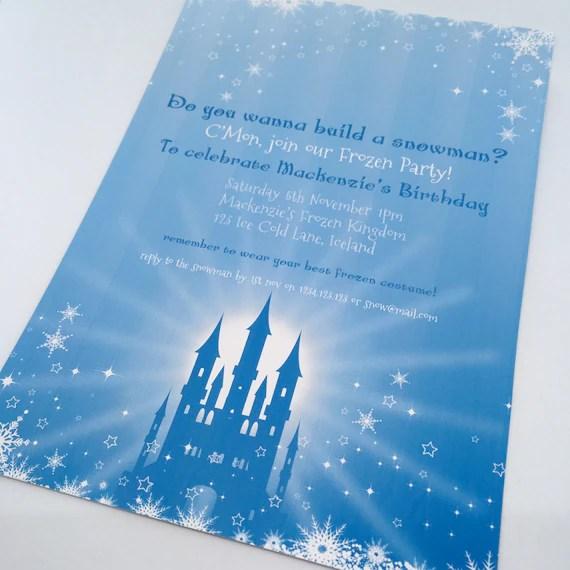 editable printable frozen ice castle