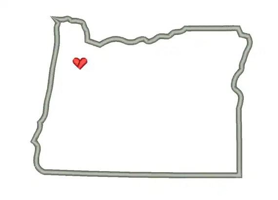 Oregon State Outline Appliqué Designs Machine Applique