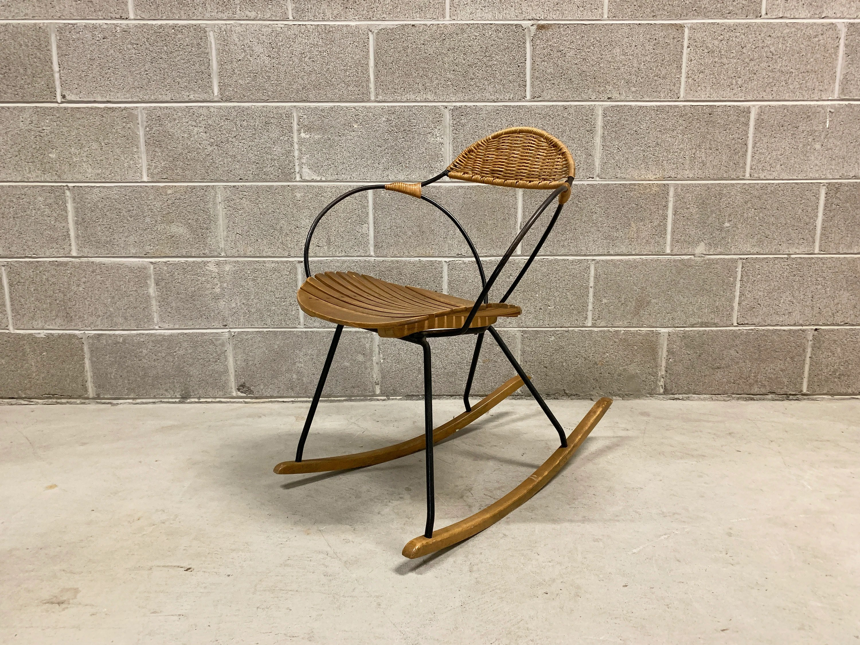 metal rocking chair runners bungee amazon uncommon arthur umanoff mid century modern wood etsy image 0