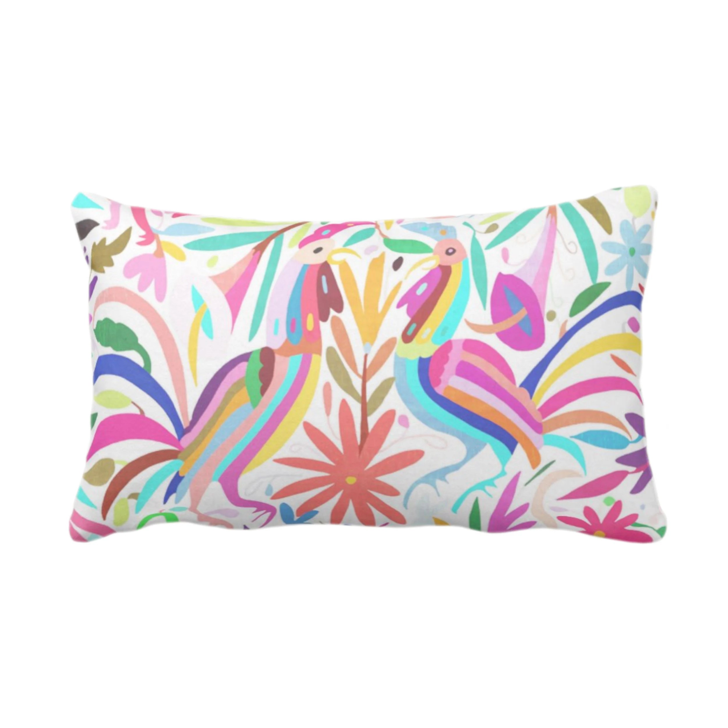 outdoor colorful pastels otomi throw