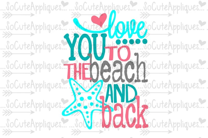 Download Mermaid SVG Love you to the beach & back nautical svg | Etsy