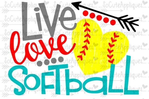 Download Softball svg Live love softball softball clipart softball ...