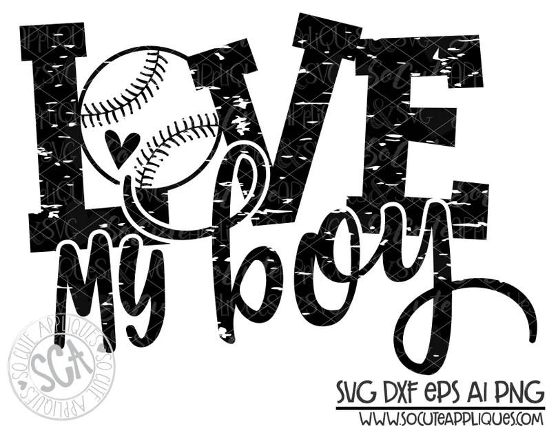 Download Baseball svg baseball mom Love my boy svg baseball cutfile ...