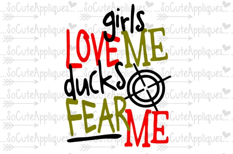 Download Girls love me ducks fear me svg cowboy country Svg duck   Etsy