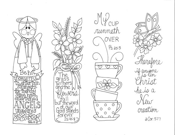 bible journaling templates scripture bookmarks Hand drawn