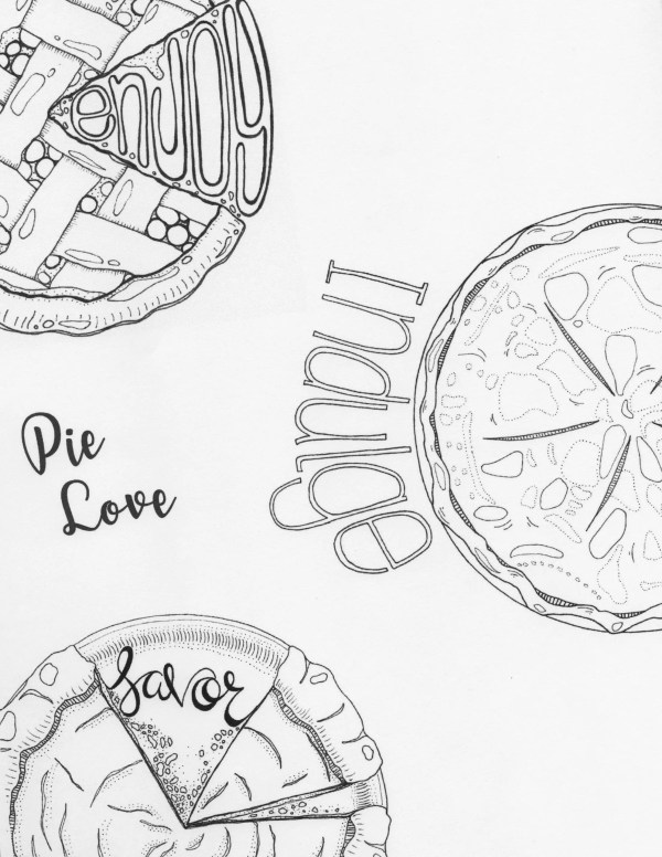 pie coloring page # 17