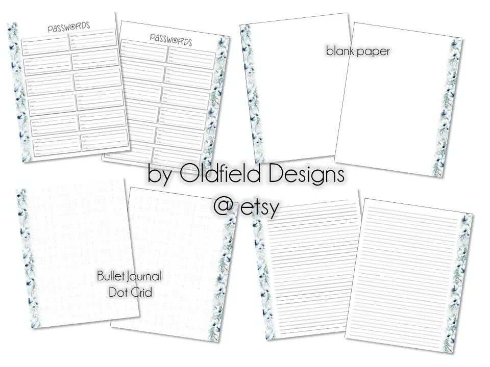 Items similar to 8.5x11 Notebook Printable Planner Pages