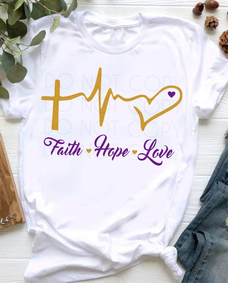 Download Faith Hope Love Heartbeat SVG Cut & Print Instant Download ...