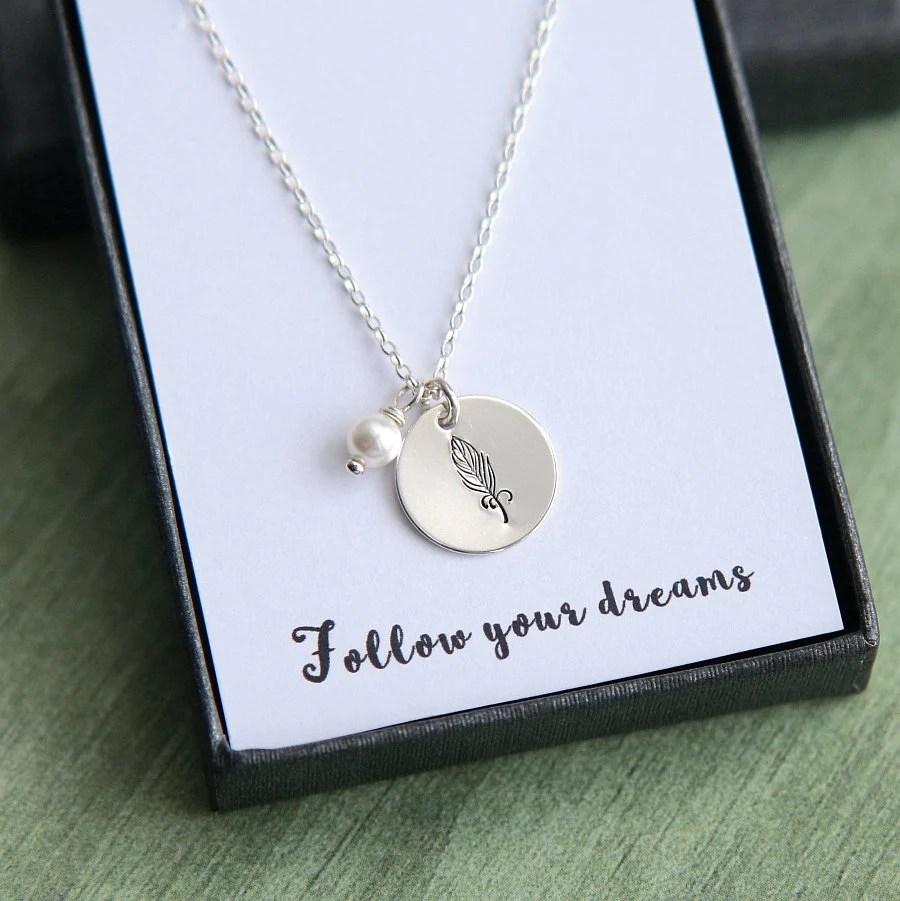 feather necklace best friend