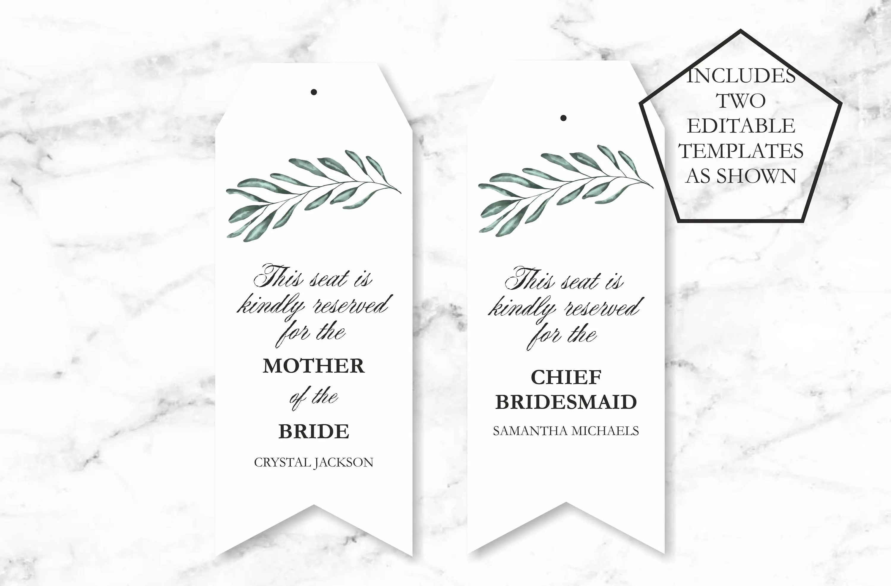 reserved signs for chairs template copper dining tag avery com chair wedding seating tags printable greenery etsy