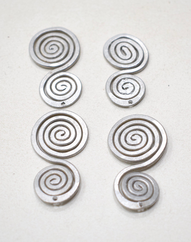 Beads Old Masai/Turkana Aluminum Pendants 40mm