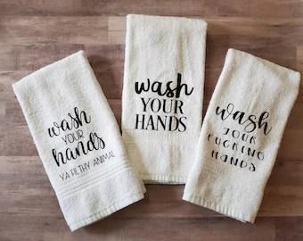 Bathroom Hand Towels Etsy