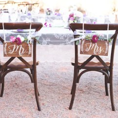 Mr And Mrs Chair Signs Cottage Style Chairs Rustic Wedding Decor Etsy Image 0