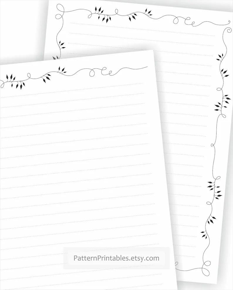 Digital A4 size letter writing paper. Printable pdf file
