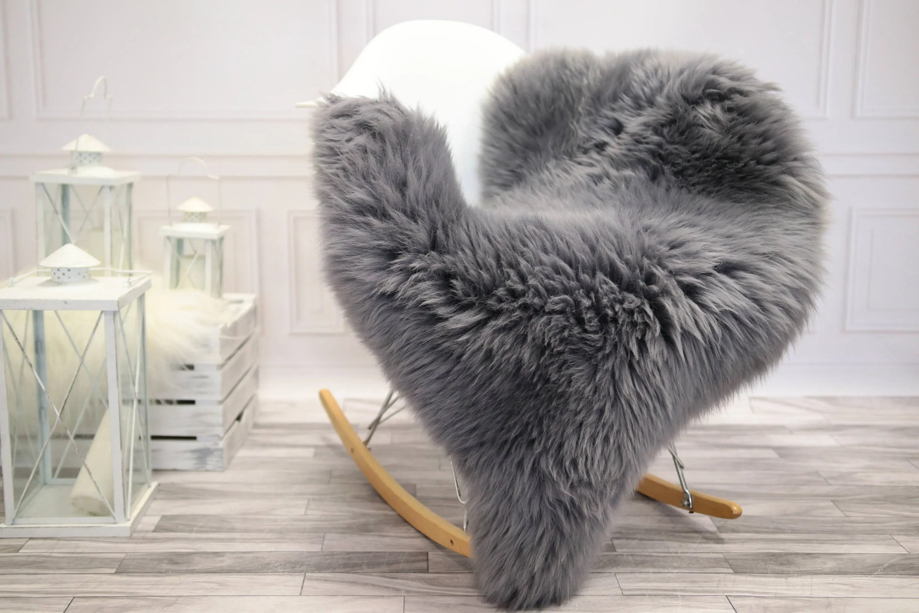 Sheepskin Chair Covers Genuine Natural Gray Sheepskin Rug Sheepskin Throw Chair Cover Super Soft Rug Scandinavian Style Scandinavian Rug Gray Sheepskin