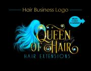 hair extensions logo flowing ponytail