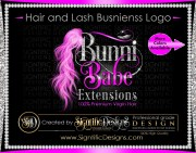 hair and lash logo extension