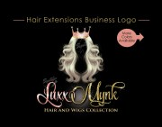 hair extensions logo bundle