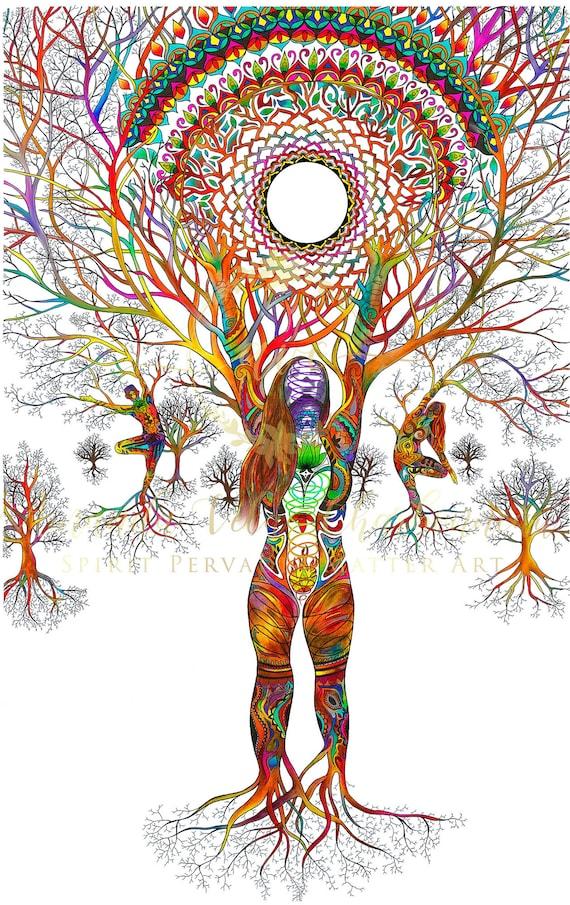 Tree Woman Art : woman, Metaphysical, Spiritual