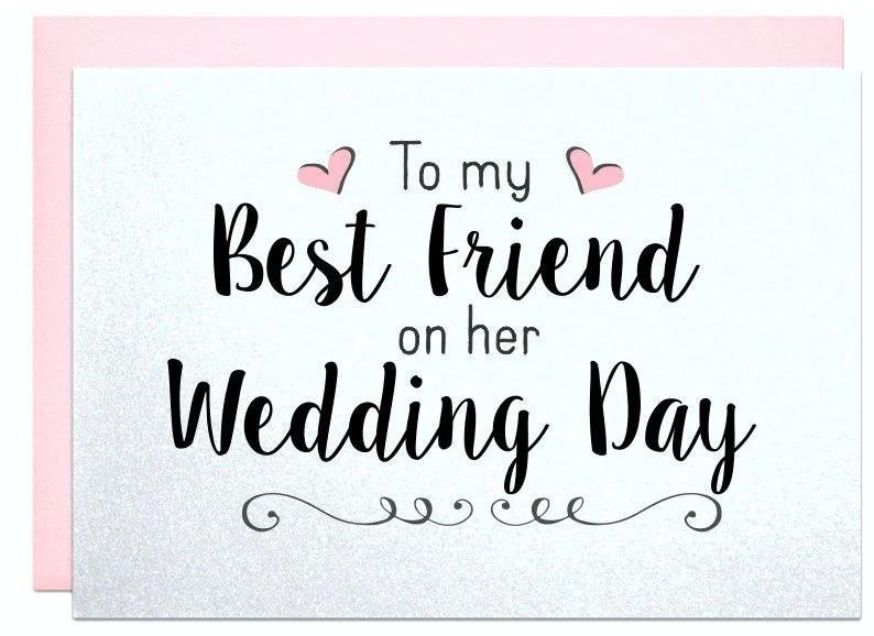 Wedding Gift Card For Best Friend Wedding Bridal Shower