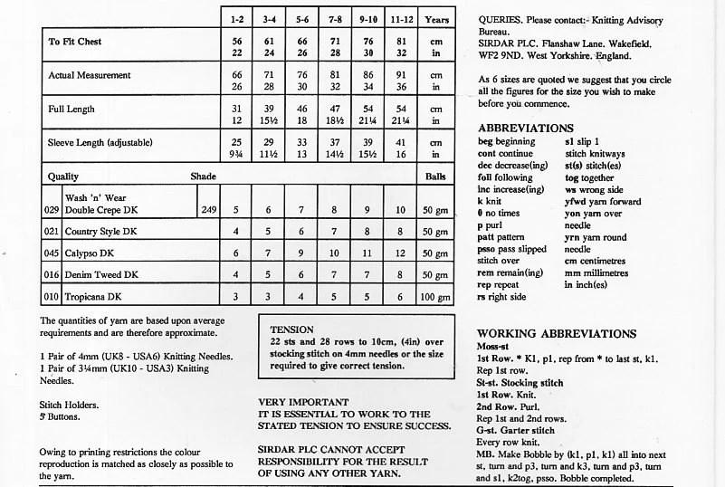 Childrens cardigan knitting pattern pdf download girls v
