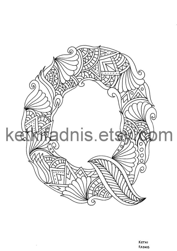 letter q coloring page # 18