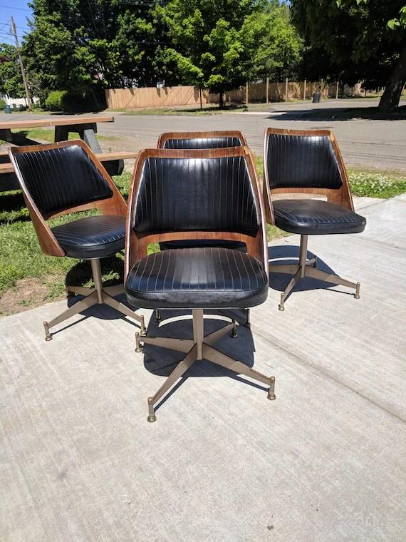 mid century barrel dining chair desk alternatives modern b brody danish walnut bentwood etsy image 0