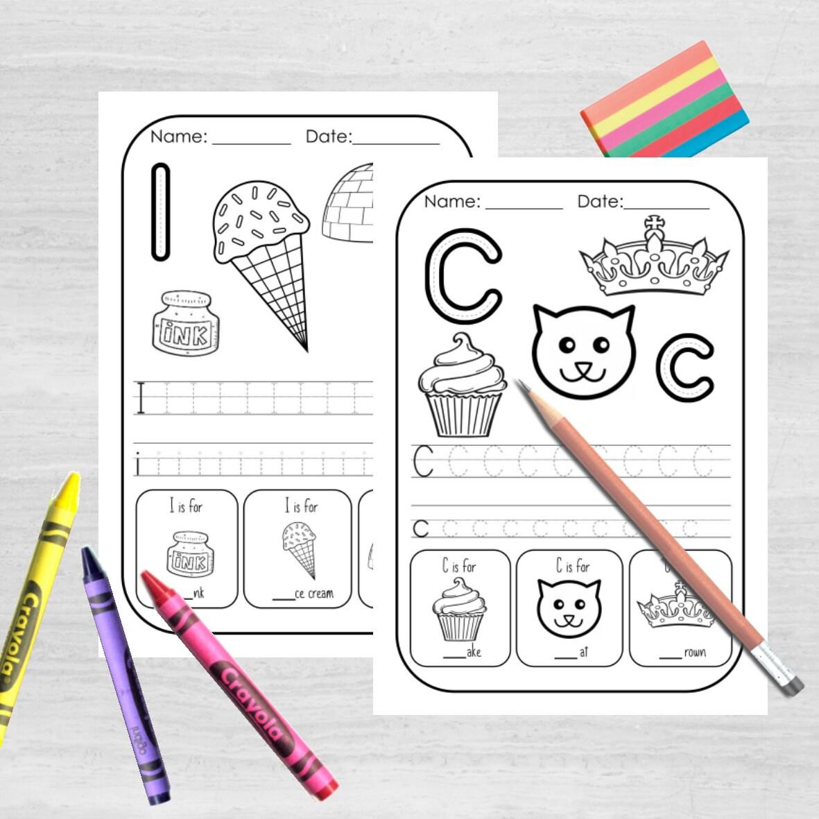 Childrens Alphabet Worksheets Homeschool Preschool