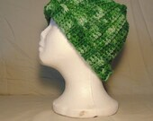 Crocheted Messy Bun Hat -...