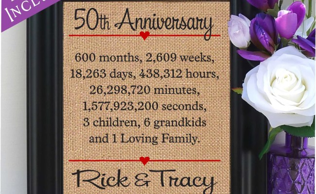 50th Anniversary Gift To Wife 50th Wedding Anniversary Gift