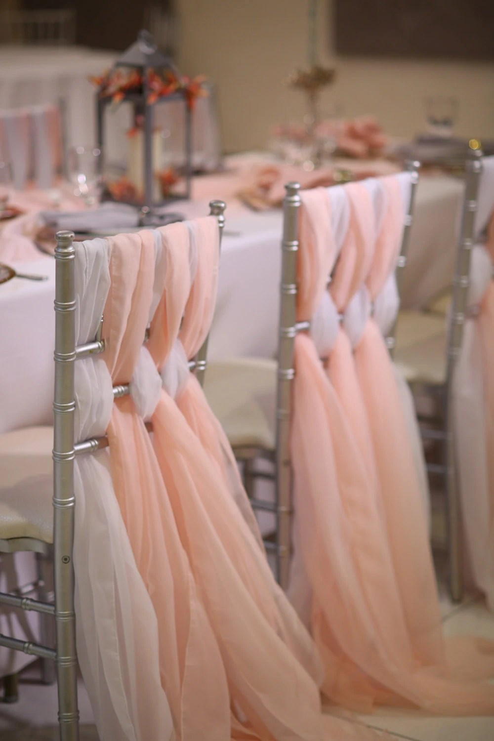 wedding chair sash best outdoor rocking chairs 2018 chiffon chiavari sashes etsy image 0