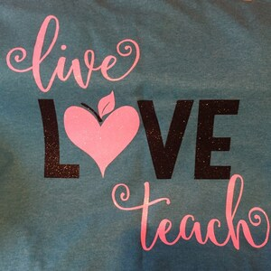 Download Live Love Teach SVG DXF EPS png Files for Cutting Machines ...