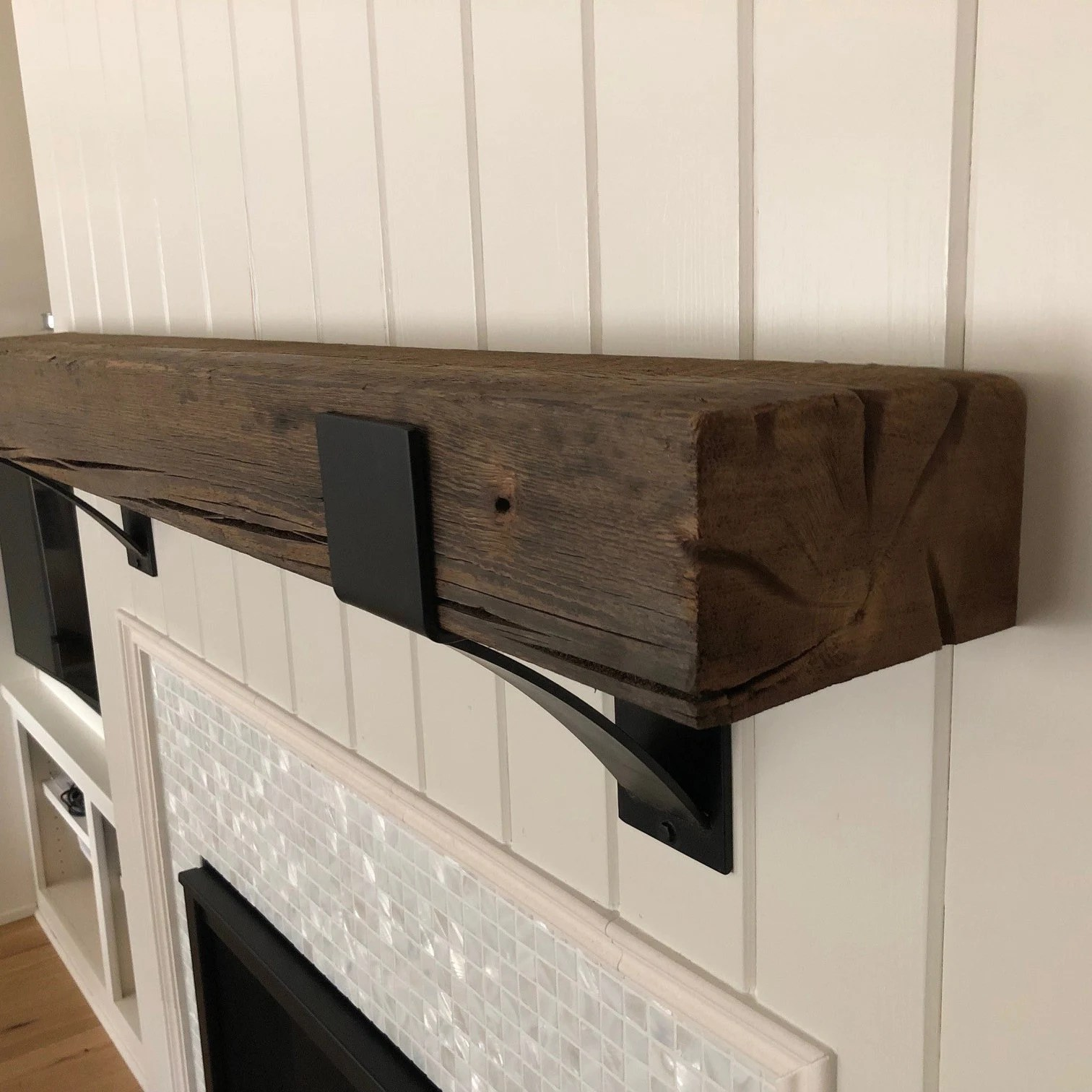 Farmhouse Mantel Brackets 4 Wide With 3 Curved Support Bar Farmhouse Mantel Brackets 4 Wide With 3 Curved Support Bar