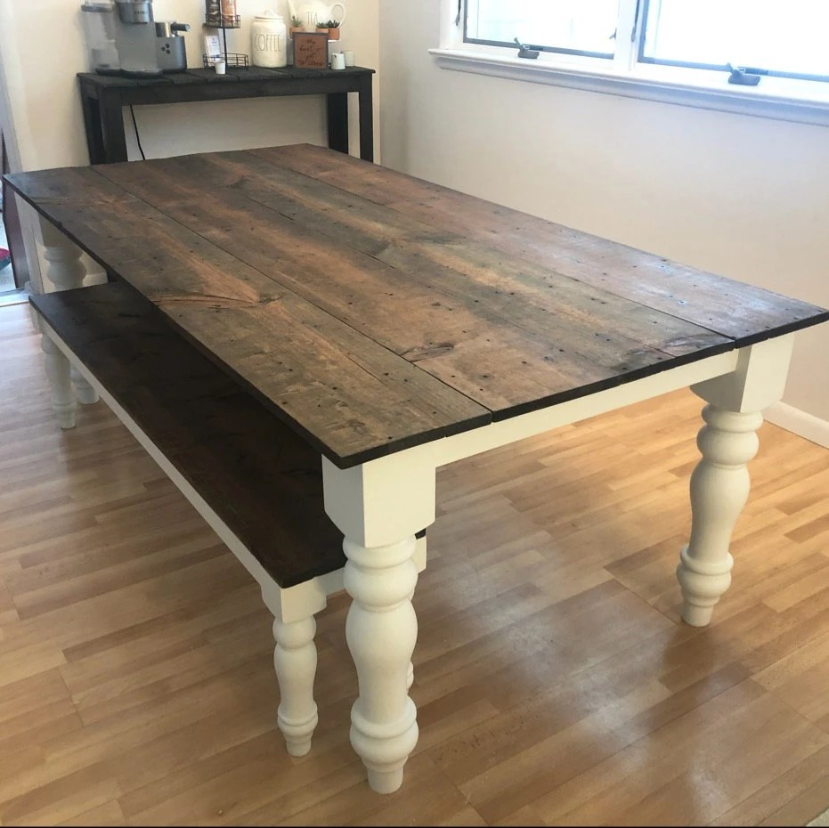 chunky wood legs farm table year of clean water rh yearofcleanwater org